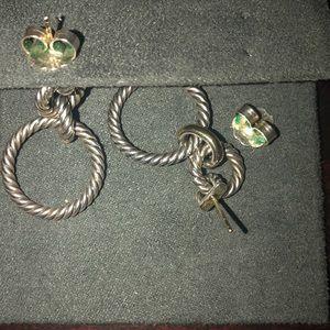 David Yurman Jewelry - David Yurman classic cable earrings
